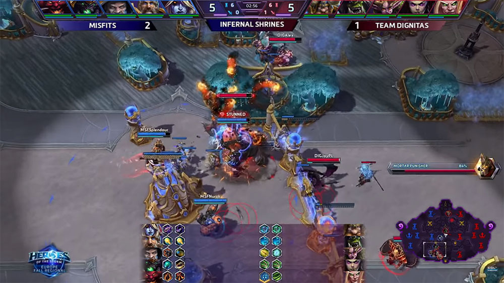 Kerrigan using her combo with the Punisher on Infernal Shrines