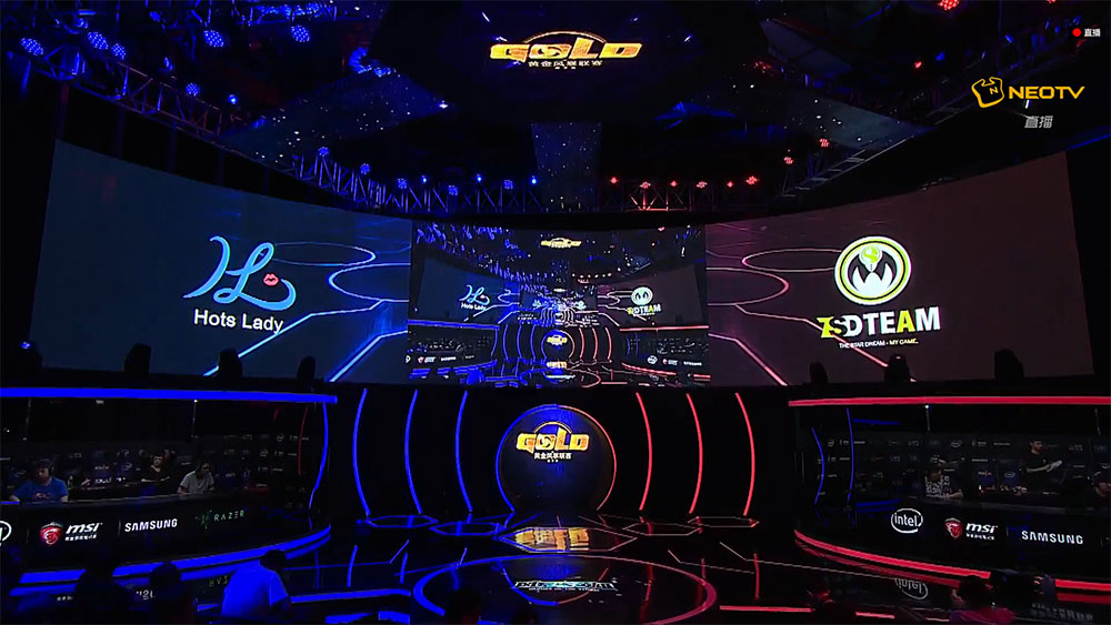 The stage for NetEase's Gold Series Heroes League