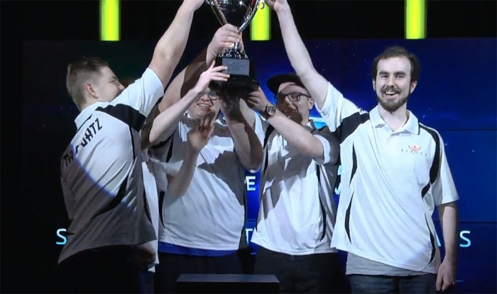Reborn lifts the trophy at the ANZ regional final