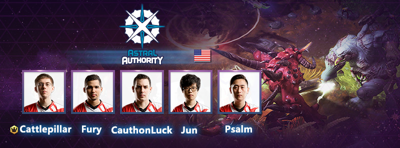 The Astral Authority lineup for GCWC