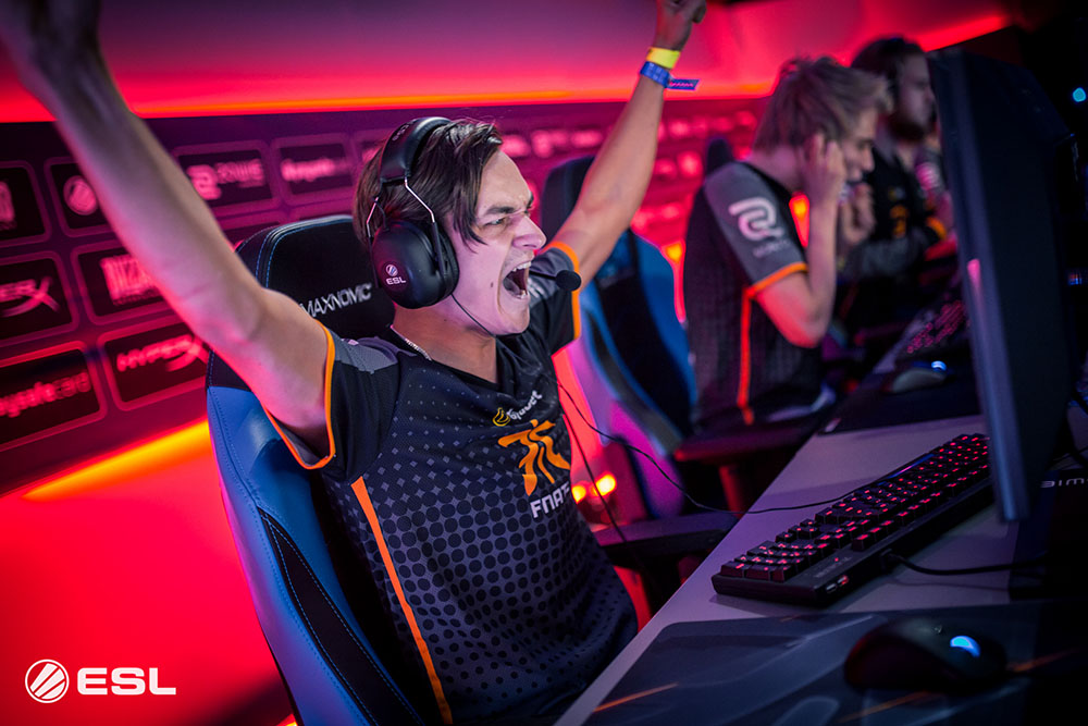 Quackniix celebrates after a big win at Gamescom